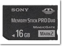 Sony's new 16GB Memory Stick PRO Duo media