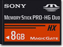Change Gear With Memory Stick PRO-HG Duo™ HX