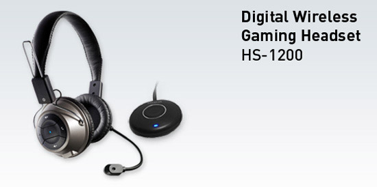 creative digital wireless gaming headset-h1200