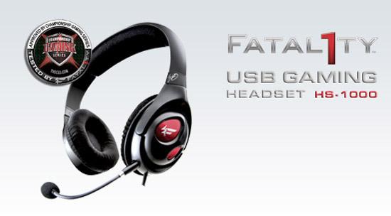 Creative Fatal1ty usb headset HS-1000