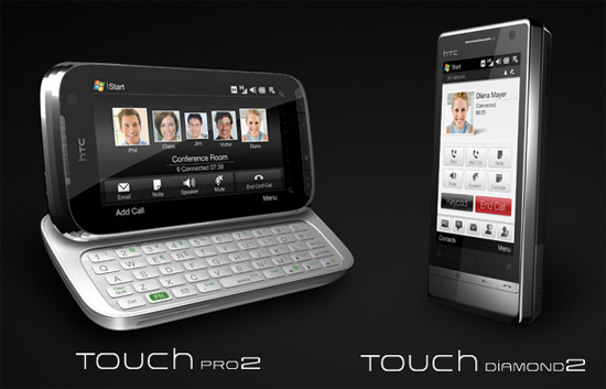HTC Touch Diamond2 and HTC Touch Pro2