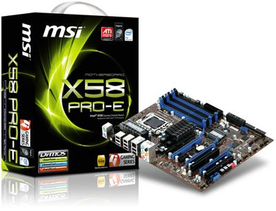 MSI X58 PRO E mainboard