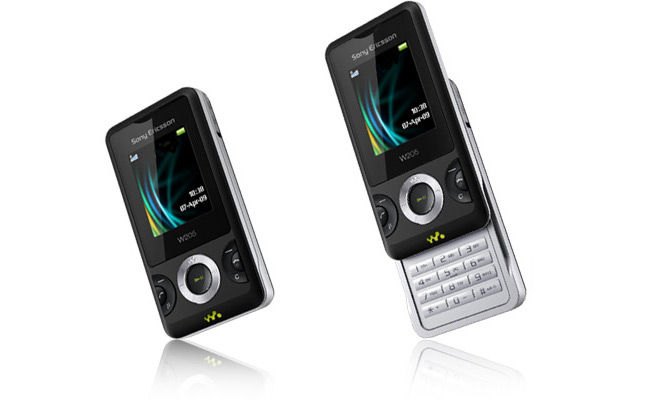 Sony Ericsson new W205 small Walkman phone and Snap-on ...