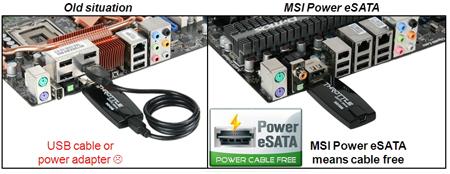 MSI Power eSATA