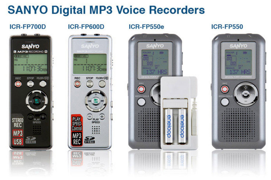 Home Audio Sanyo debuts four Digital MP3 voice recorders