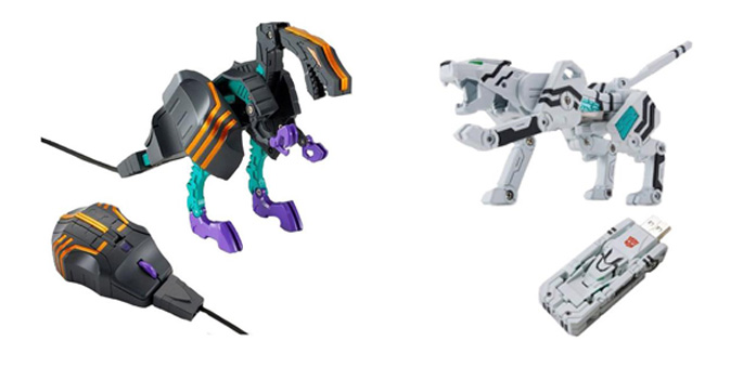Transforming Laser Mouse - Trypticon, Transforming USB Flash Memory (2 GB) - Tigatron