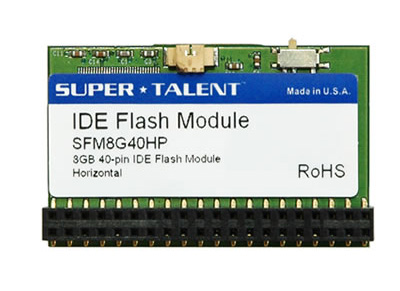40 pin IDE Flash Disk Module (FDM) with Horizontal connector