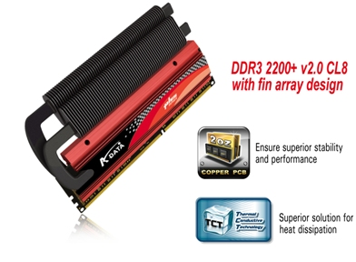 A-Data XPG Plus Series DDR3-2200+ v2.0 with 2oz copper PCB design