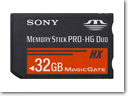 Sony Launches Super-High Capacity 32GB Memory Stick PRO-HG Duo HX