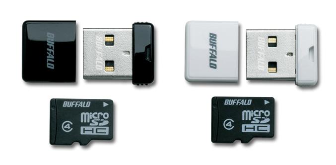 Buffalo microSD USB card reader