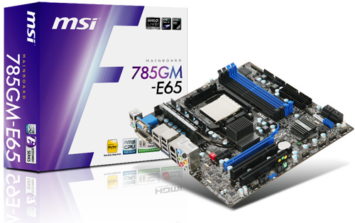 MSI 785G E65 Mainboard MSI launched AMD 785G Series Mainboards