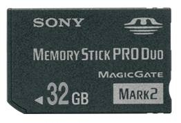 Sony launches 32GB Memory Stick PRO Duo cards