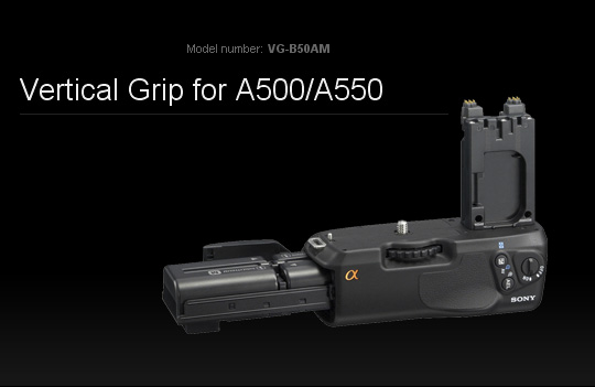 Vertical Grip for A500/A550 VG-B50AM