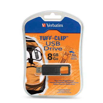 Verbatim TUFF-CLIP flash drive box
