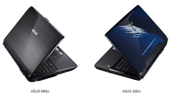 Asus G60J and M60J notebooks