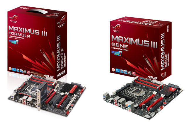 Asus Maximus III Formula and Maximus III GENE