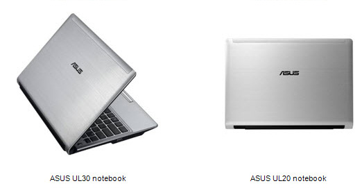 Asus-UL30 and UL20 notebooks