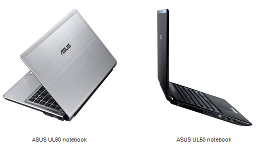 Asus-UL80 and UL50 notebooks