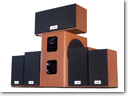 Genius six-piece SW-HF5.1 5050 Wood Surround Sound System