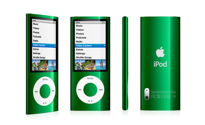 Ipod nano with Bult-in Video Camera, mic and spreakers