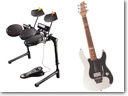 Logitech introduced Wireless Guitar Controller and Logitech Wireless Drum Controller for Wii