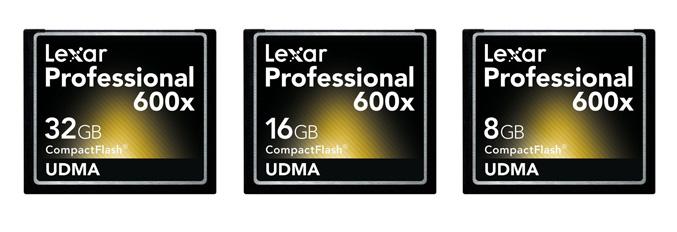 Lexar Professional 600x Compact Flash Memory Card