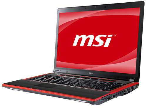 MSI GT740 gaming notebook