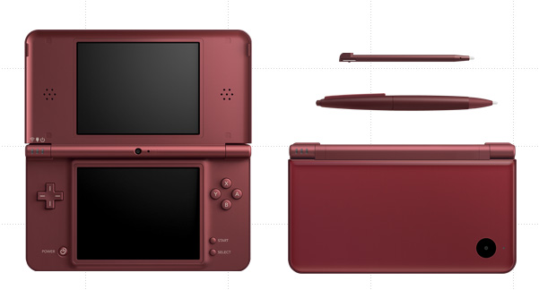 Nintendo DSi LL Whine Red