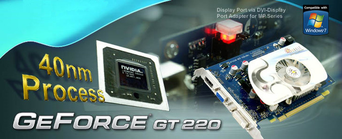 SPARKLE GeForce GT220 Graphics Card