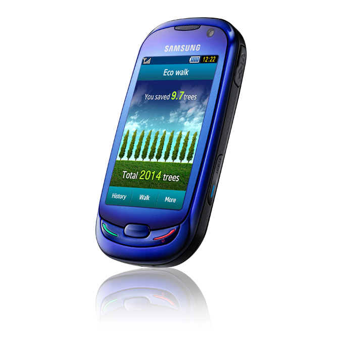 "Samsung ""Blue Earth"" mobile phone"