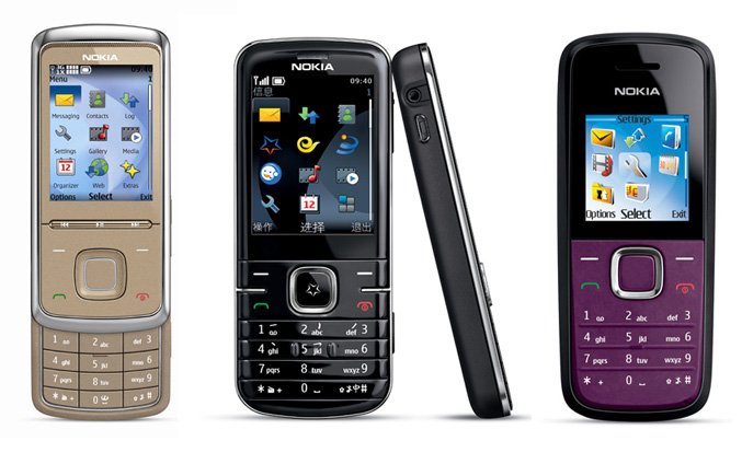 Nokia 6316s, Nokia 3806 and Nokia 1506