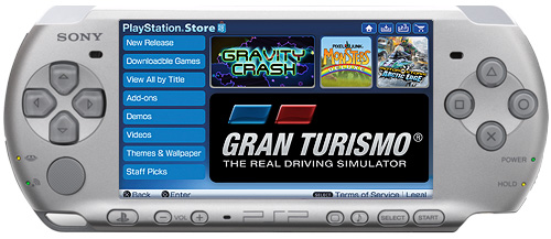PSP3000 store