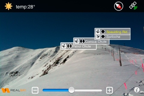 First augmented reality iPhone app for skiers and snowboarders called REALSKI(TM)