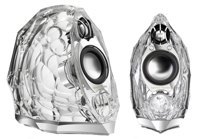 Harman Kardon GLA-55 glass speakers