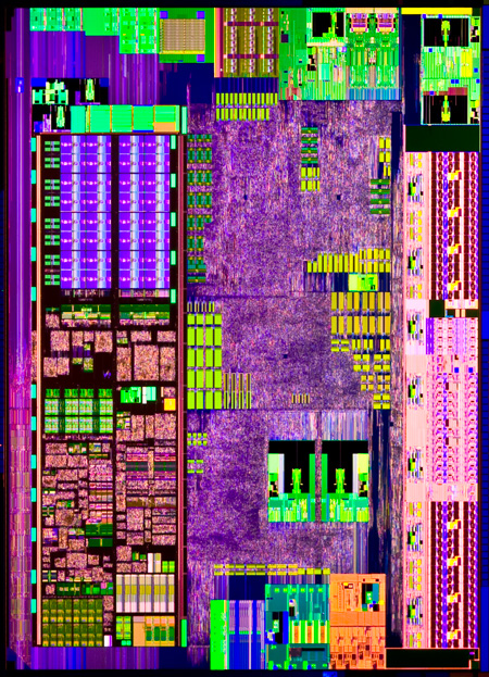Intel® Atom™ N450 ('Pinetrail') processor die