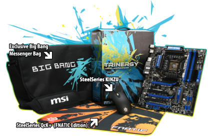 MSI and SteelSeries Big Bang-Trinergy Mainboard