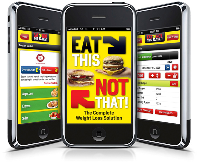 "Eat This, Not That!""   – Most Downloaded App in Healthcare & Fitness Category"