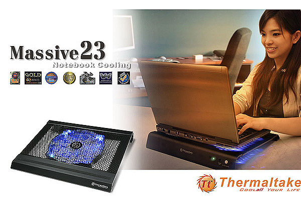 Thermaltake Massive23 Series: Cool Ergonomics Elegant Notebook Coolers