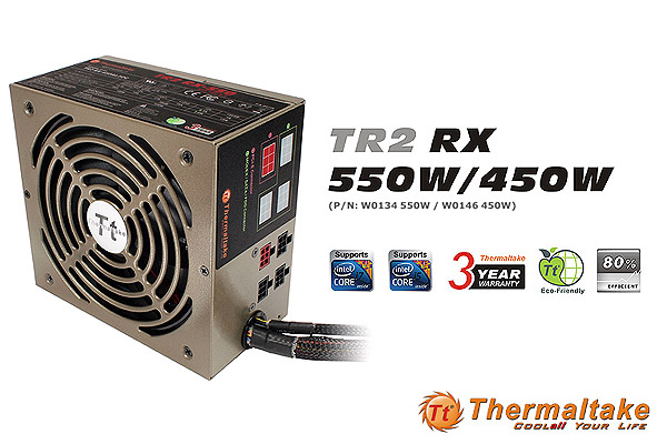 Thermaltake TR2 RX 450W/550W PSU Series