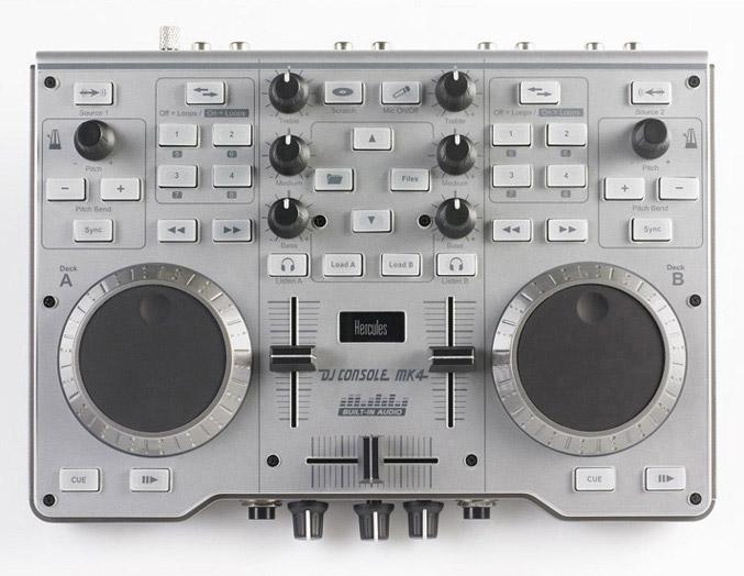 Dj controller the hercules dj console mk4 also includes a high