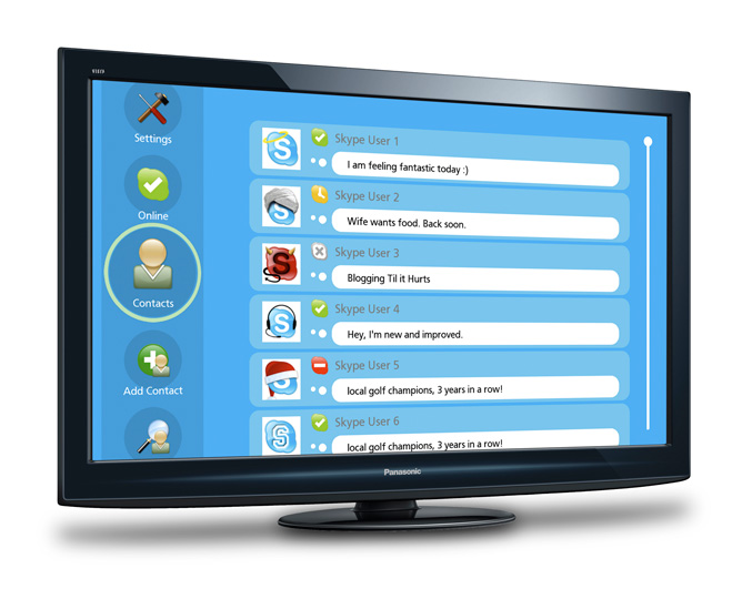 Panasonic & Skype Chat Screen