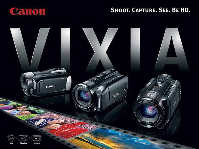 Canon Vixia lineup