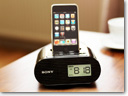 Sony offers new iPod clock radio docks
