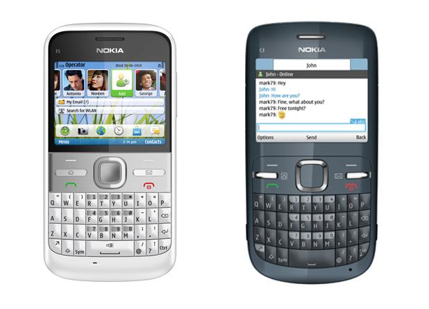 Nokia E5 and Nokia C3