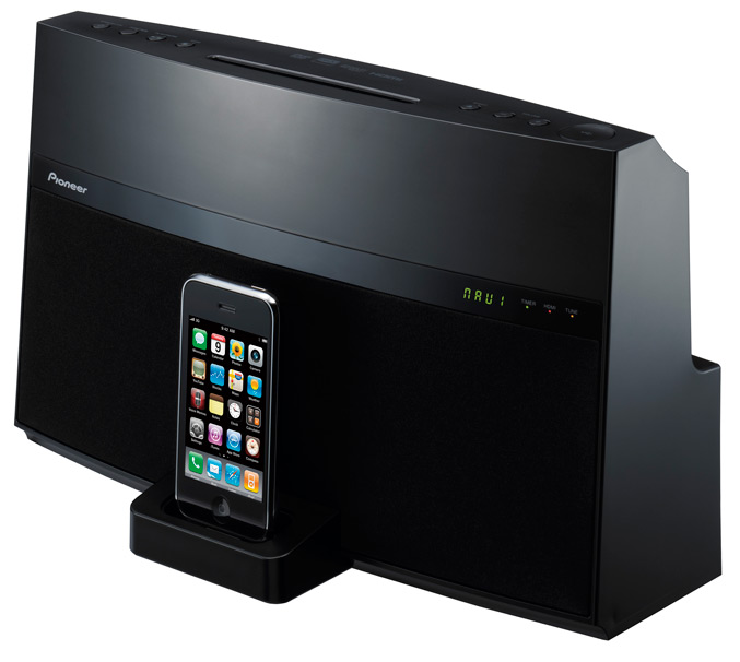 "Pioneer ""Works with iPhone"" audio/video docking systems"