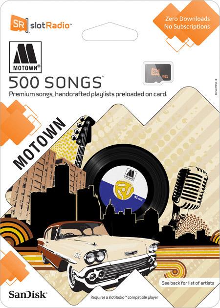 SanDisk slotRadio Motown card