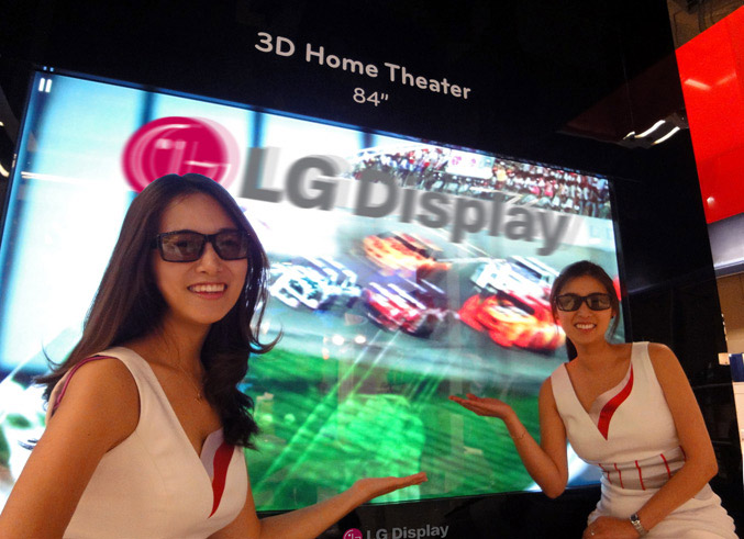 LG 84-inch UHD (ultra high definition) 3D panel