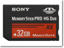 Sony Memory Stick PRO-HG Duo HX memory cards
