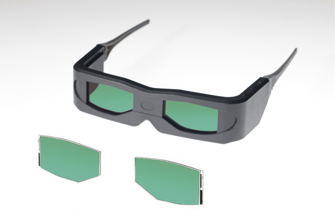 Toshiba developed OCB Liquid Crystal Panel for 3D Glasses