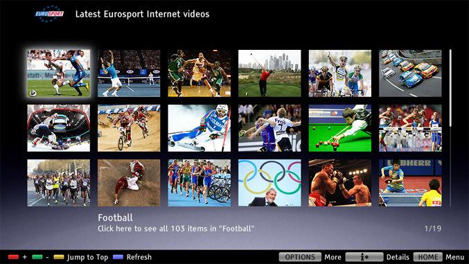 Eurosport Sony UI